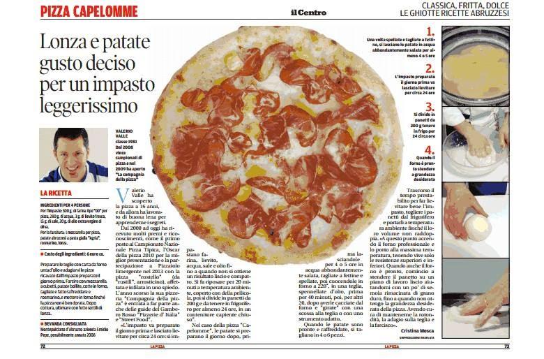 La ricetta abruzzese per il giornale IL CENTRO: La Capelomme