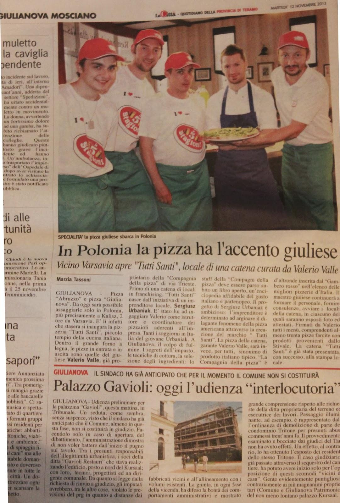 In polonia la pizza ha l'accento giuliese